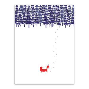 Modern Nordic Minimalist Landscape Animal Fox Tree Snow A4 Huge Art Print Poster Wall Picture Canvas Painting No Frame Home Deco