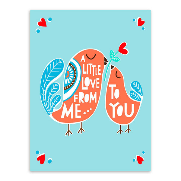 Triptych Bird Love Kiss Motivational Typography Quotes Animal Art Prints Poster Wall Picture Canvas Painting No Frame Home Decor