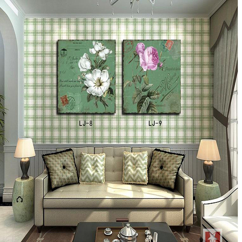 Wholesale Simple Modern European Style Decorative Oil Painting Hotel Living Room Restauran Flower Canvas Painting