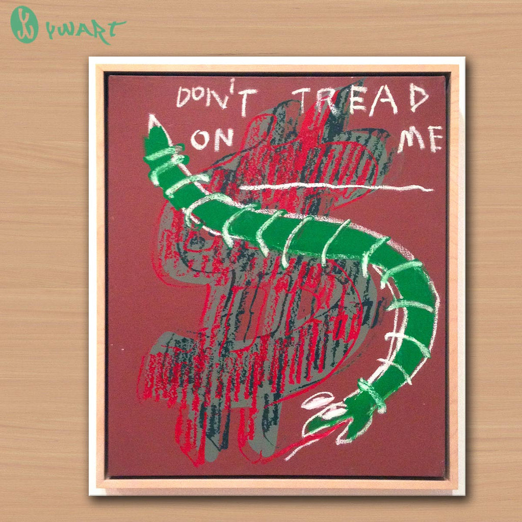 warhol $ and don't tread on me BY Jean Michel Basquiat Neo-Expressionism GRAFFITI ART POSTER PRINT ON CANVAS FOR HOME DECORATION