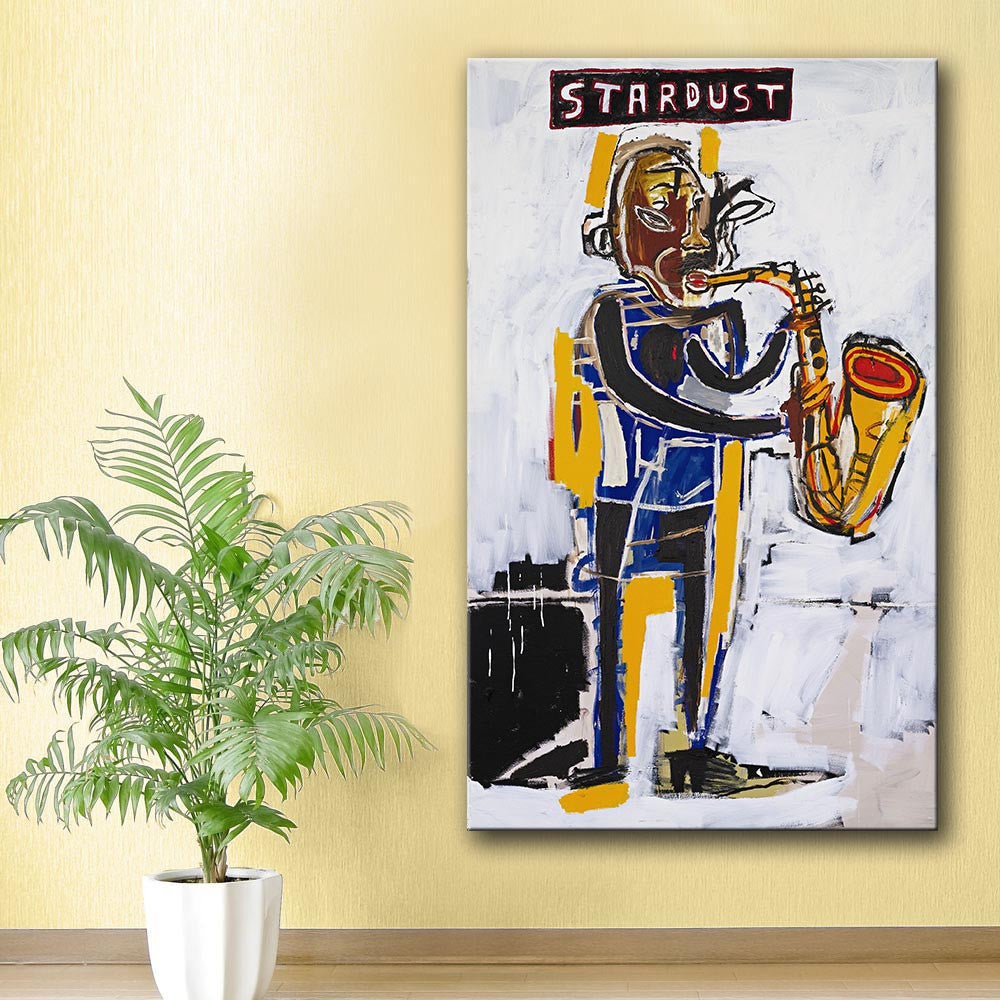 2016 Rushed New Painting Jean-Michel-Basquiat Stardust Graffiti Art Print On Canvas For Home Decoration No frame