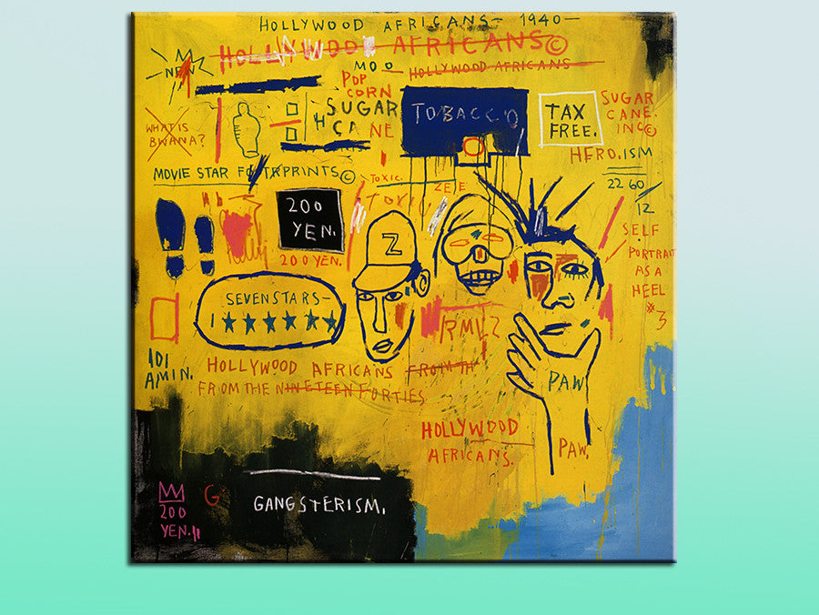 2016 Painting Hollywood Africans Jean Michel Basquiat -neo-expressionism For Graffiti Art Print On Canvas For Home Decoration