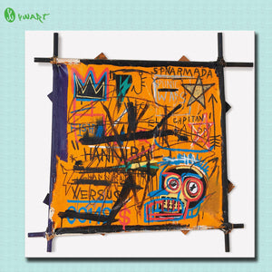 Fallout Paintings Large Size Print Painting Jean Michel Basquiat Hannibal Home Decorative Wall Art Picture Living Room No Frame