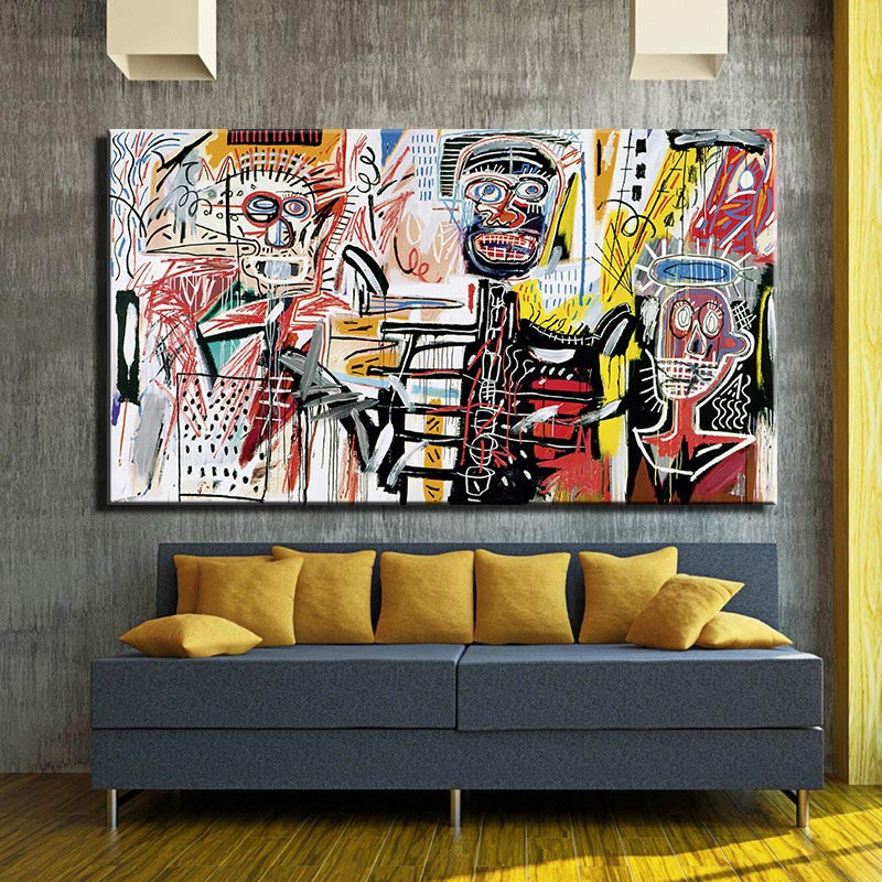2016 Rushed New Painting Jean Michel Basquiat Philistines o Filisteos  For Graffiti Art Print On Canvas For Home Decoration