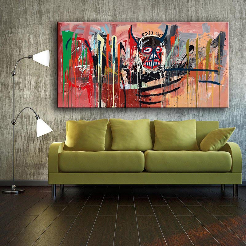 2016 New products sale Untitled (1982) by Jean Michel Basquiat  For Graffiti Art Print On Canvas For Home Decoration no frame