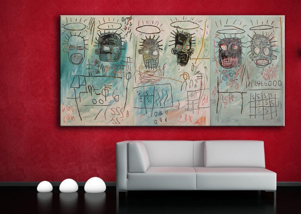 2016 Painting Paintings Six Crimee Jean Michel Basquiat -neo-expressionism For Graffiti Art Print On Canvas For Home Decoration