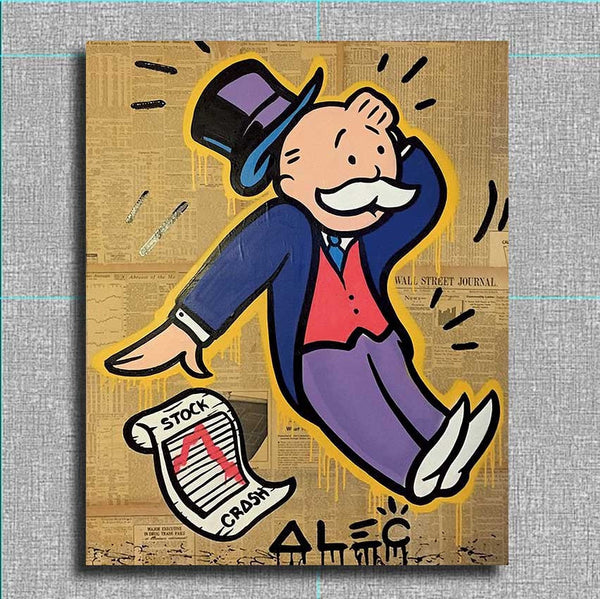 Cuadros Decoracion Alec Monopoly Series 1 For Graffiti Art Print On Canvas For Wall Picture Decoration Painting In Living Room