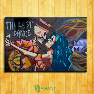 Canvas Oil Painting Modern For Graffiti Painting Street Art Paintings Dance Hang Pictures Wall Home Decoration No Frame
