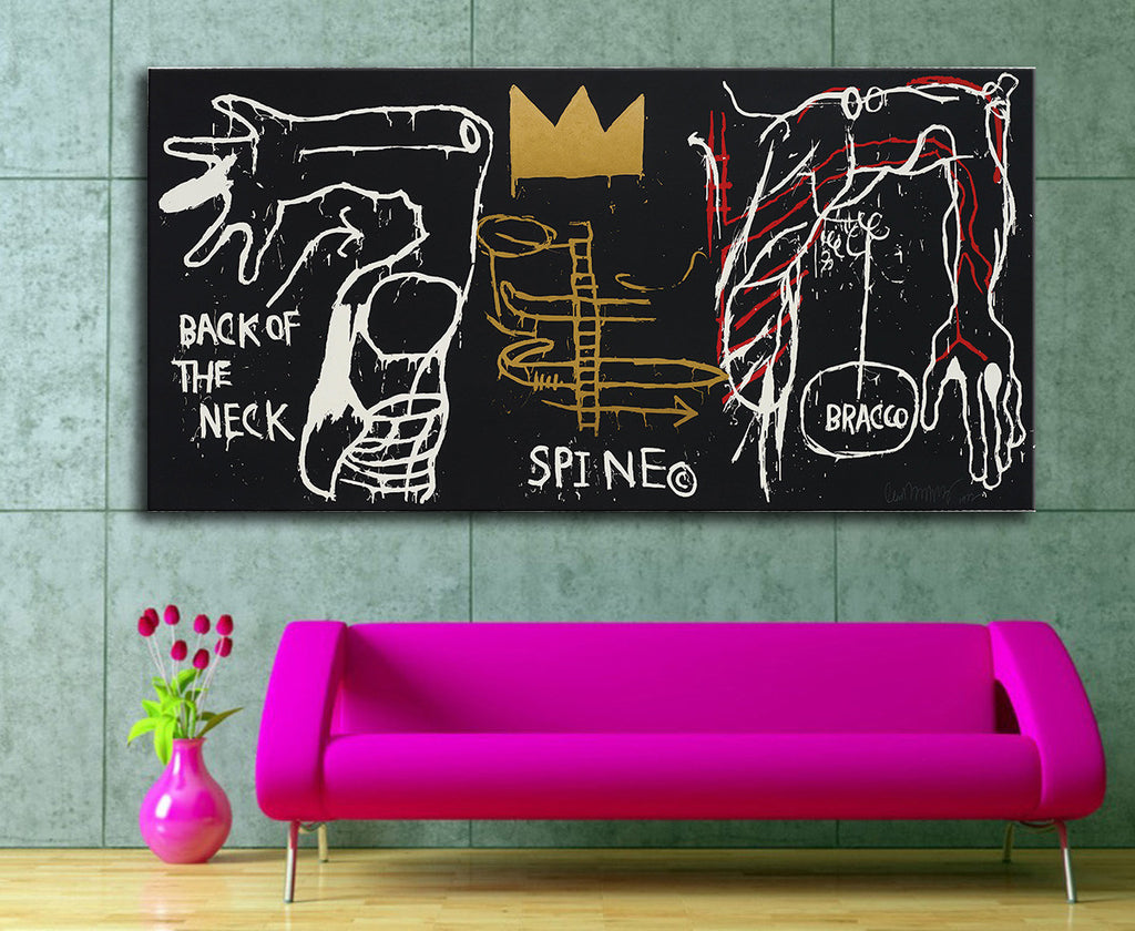 2016 Rushed New Painting Jean Michel Basquiat Back of the Neck 1983 For Graffiti Art Print On Canvas For Home Decoration