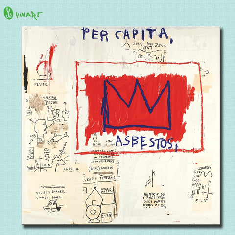 2016 Sale Hd Print Painting Jean Michel Basquiat Per Capita 1983- 2001 Home Decorative Wall Art Picture Living Room No Frame