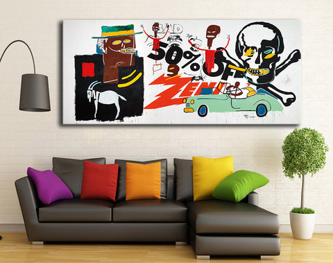 2016 Rushed New Painting Jean Michel Basquiat Zenith 1985 For Graffiti Art  Print On Canvas For