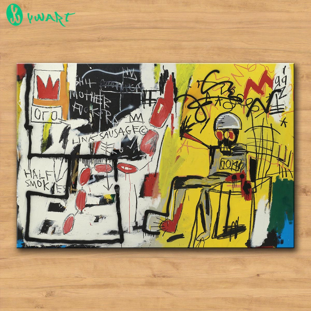 Rushed Wall Art Picture Painting Untitled (Electric Chair) by Jean ...
