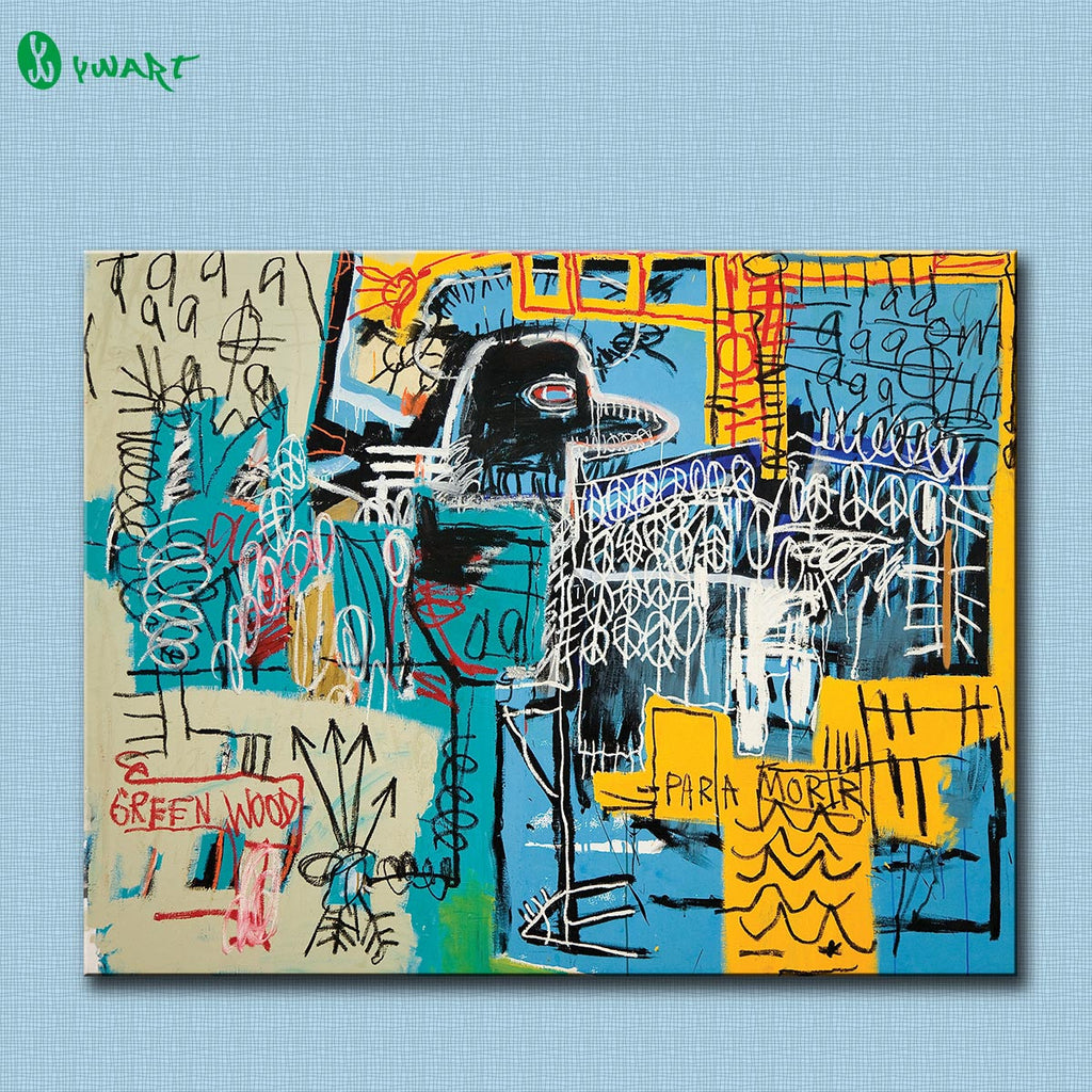 Fallout Painting Hd Bird On Money By Jean-michel Basquiat For Graffiti Art Print On Canvas For Home Decoration Free Shipping