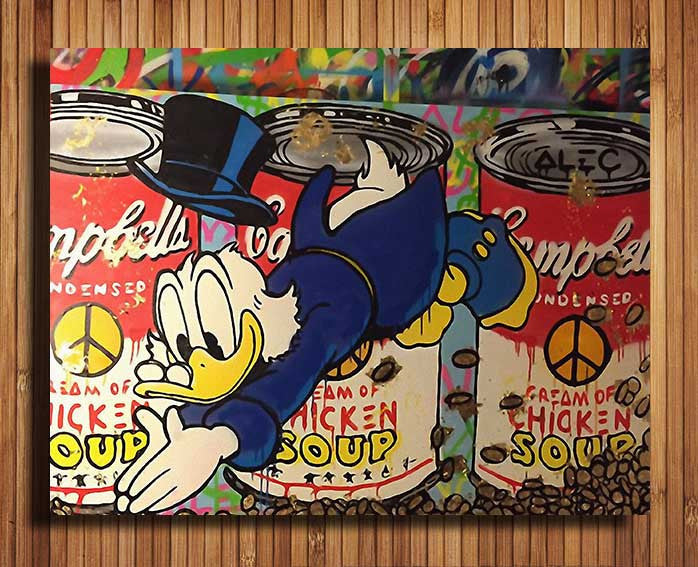 2016 Real Wall Pictures For Living Room Fallout Alec-monopoly Large Canvas Print Pop Art Giclee On For Wall Decoration Painting