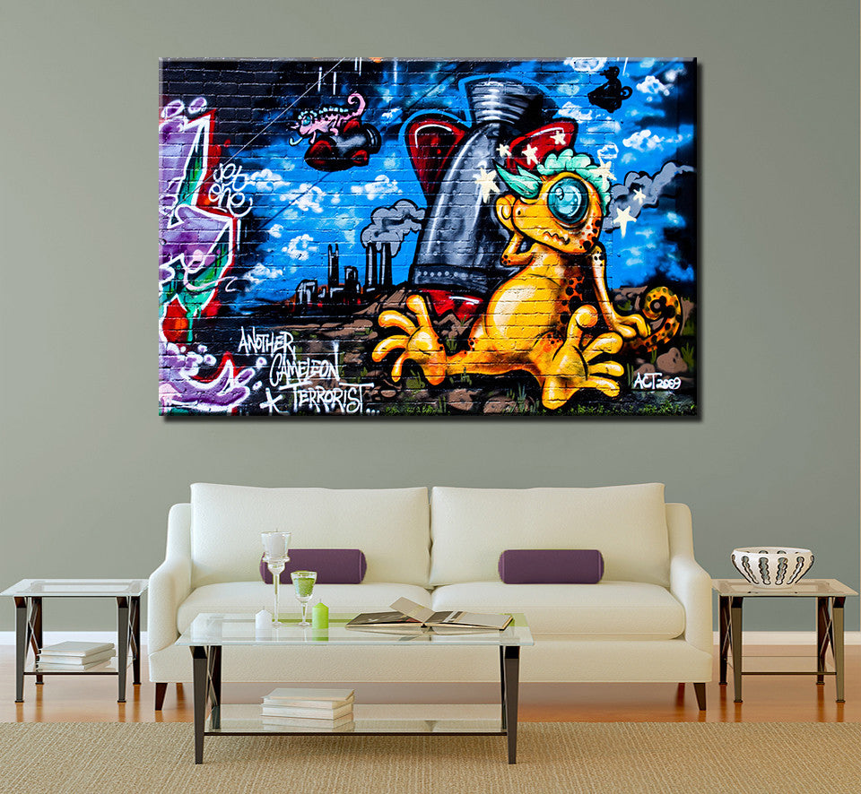 Graffiti-5 Oil Painting On Canvas Modern Wall Art Home Deco Wallpaper Painting Posters For Walls Free Shipping No Frame