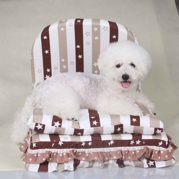 Washable 3 pieces big lage dog bed house set pet cat luxury Princess sofa Bed kennel for small dog  (Pet bed + pillow + blanket)