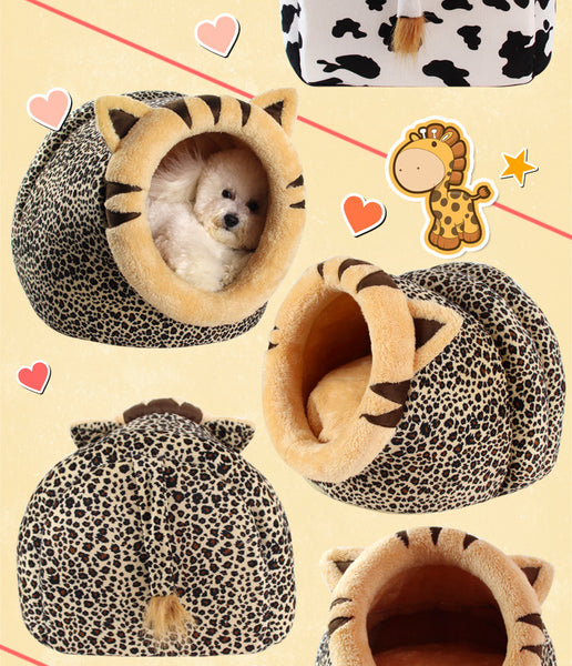 Winter Warm  Dog Bed Pet Dog House Soft pet Bed,Kennel Doggy Warm Cushion Basket  Fashion Colorful Animals Shape