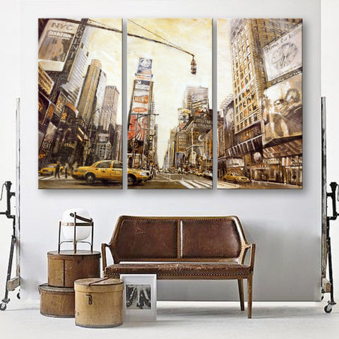 3 Pieces Canvas Art New York City Home Decoration Modern Painting Decor On Wall