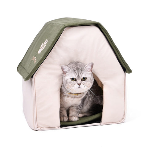 2016 New Arrival Foldable Pet Cat Cave House Cat Kitten Bed Cama Para Cachorro Soft Dog House Cat Dogs Home Shape Red Green