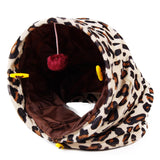Pet Tunnel with Ball Cat Play Tunnel Leopard Color Funny  Cat Long Tunnel Kitten Play Toy Collapsible Bulk Cat Toys PlayTunnel