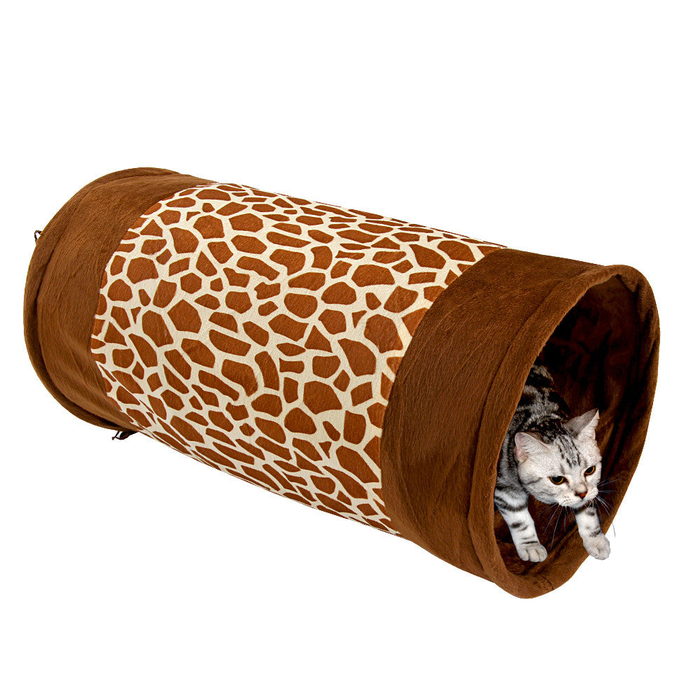 New Arrival Pet Tunnel For Cats Printed Tunnel Toy Play Funny Toy Tunnel Rabbit Play Tunnel  Bulk Cat Toys
