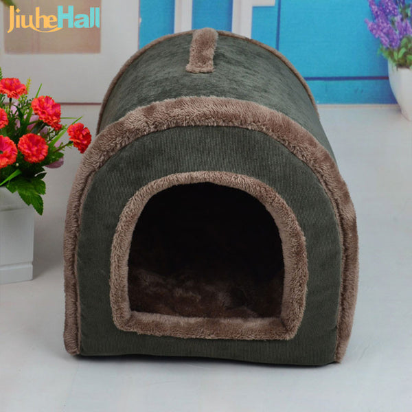 Hot Sales ! Size 37*33*31 CM Dog  Bed Kennel Golden Teddy Pet Cat Litter Autumn/Winter Warm Small Dog House Wholesale CLD225
