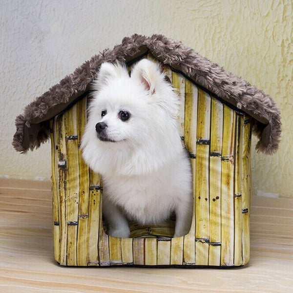 Pet House Dog Room Small Cat Kennel Teddy Cottages Bamboo House GP160309-5