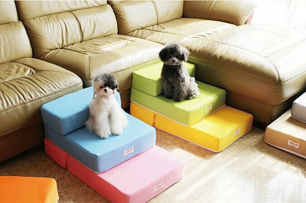 High Breathable Mesh The Stairs Pet Dogs Can Fold Two Flights Of Stairs Can Unpick And Wash 160415-6