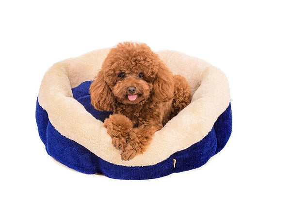 Soft round Detachable washable small dog cat pet Bed Kennel soft warm Fleece Cozy Pet House sofa bed Warm cat  pet products