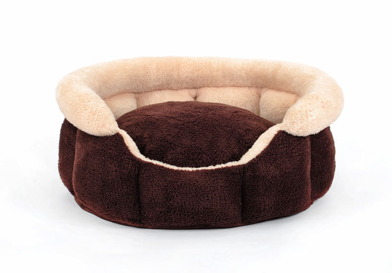 Soft round  washable small dog cat pet house sofa Bed Kennel  winter warm Fleece kitten cat puppy indoor bed nest sleeping bag