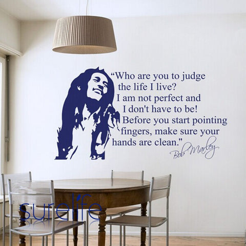 Wholesale Bob Marley Quotes Wall Sticker Vinyl Wall Decals Quotes