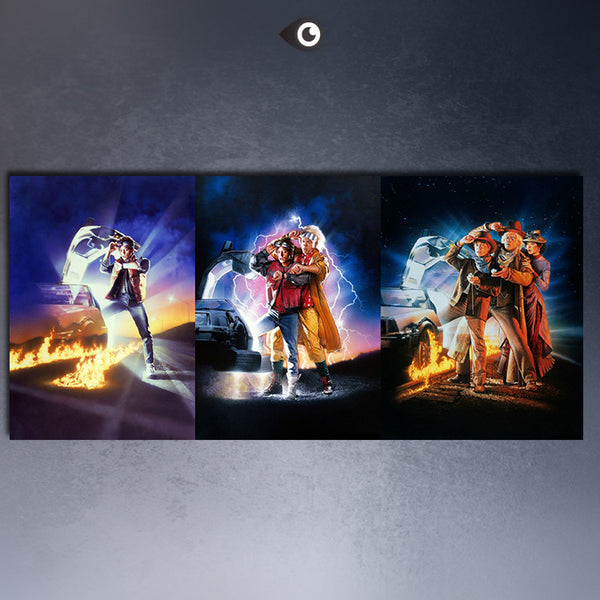 BACK TO THE FUTURE 1,2,3 CAR  Movies arts canvas print  Giclee poster  for wall decoration painting