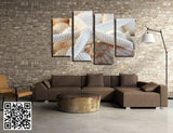 4 Pcs(No Frame) Of Wall Art Decoration Picture Of Modern Fashion Beach Shell Print On Canvas Painting,Painting On Wall