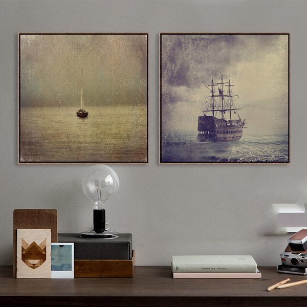 Vintage Retro Ancient Classic Boat Ship Photo A4 Art Prints Poster Shabby Chic Wall Picture Canvas Painting No Framed Home Decor