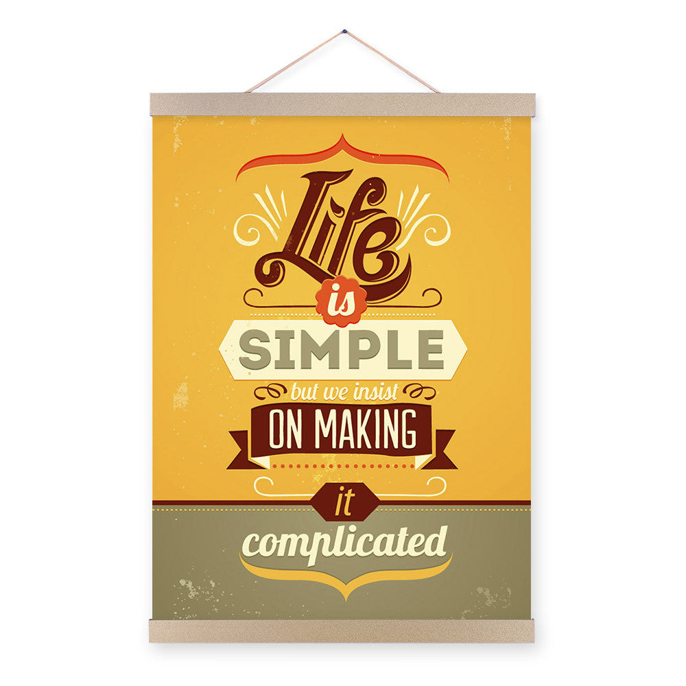 Vintage Retro Motivational Typography Simple Life Quotes A4 Big Art Print Poster Wall Picture Canvas Painting No Frame Home Deco