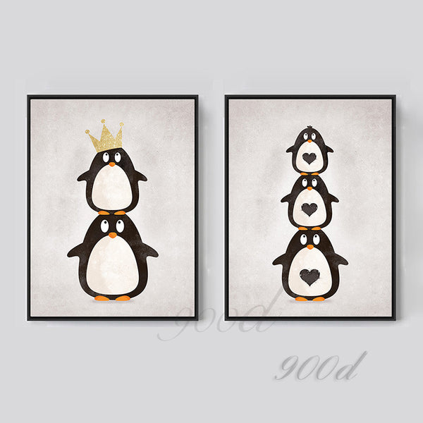 Cartoon Penguin Canvas Art Print Painting Poster,  Wall Picture for Home Decoration,  Wall Decor FA400-6