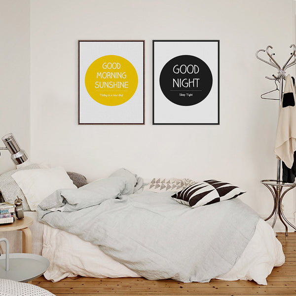 Modern Nordic Minimalist Motivational Typography Life Quote A4 Art Print Poster Wall Picture Canvas Painting No Frame Home Decor