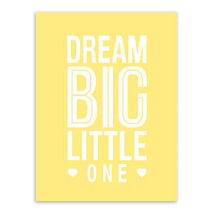 Modern Motivational Typography Dream Quotes A4 Pink Large Art Prints Poster Wall Pictures Canvas Painting Kids Room Home Decor