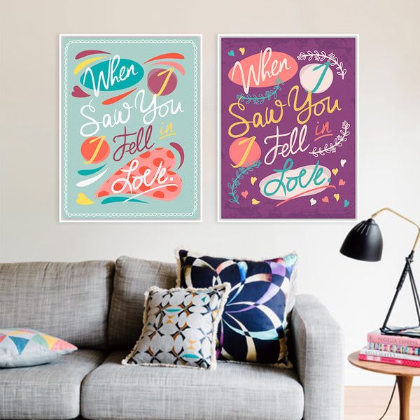 Modern Colorful Inspirational Love Quotes Typography Retro Vintage A4 Poster Prints Hippie Canvas Paintings Wall Art Decor Gifts
