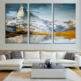 3 panels Hot Sell Snow mountain Modern Home Wall Decor painting Canvas printing Art HD print Painting
