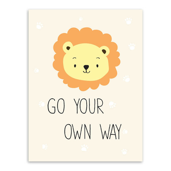 Modern Kawaii Animals Pet Cat Lion Quotes Canvas A4 Art Print Poster Nursery Wall Picture Kids Baby Room Decor Painting No Frame
