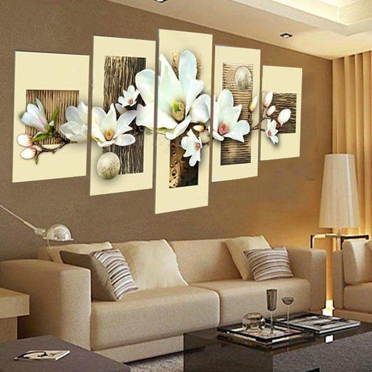 hand-painted oil wall art Purple flowers water side home decoration abstract Landscape oil painting on canvas  FL5-201