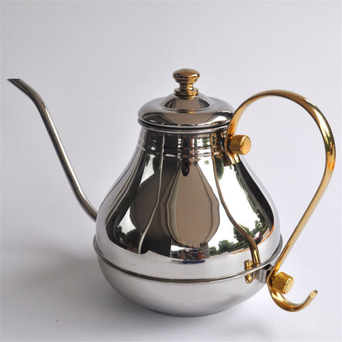 1200ML large capacity stainless steel fine mouth pot / Creative beautifully coffee and tea kettle percolator pot Kitchen Tools