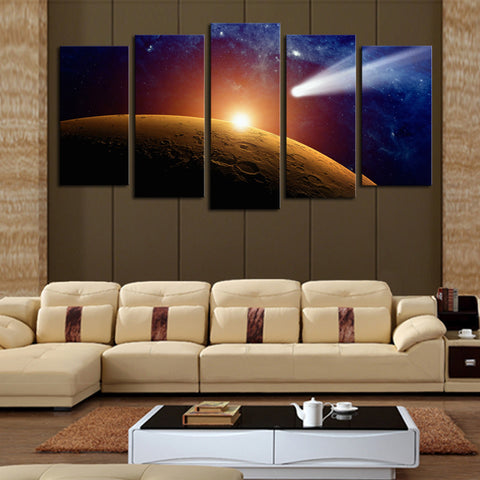 5 panels(No Frame)Space Planet Modern Home Wall Decor Painting Canvas Art HD Print Painting Canvas Wall Picture For Home Decor
