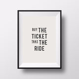 Buy the Ticket Printable Motivation Inspirational Quote Poster Canvas Art Painting Wall Pictures for Living Room, No Frame