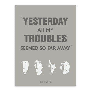Triptych Original Vintage Pop Beatles Music Quote Canvas A4 Art Print Poster Wall Picture Living Room Bar Deco Painting No Frame