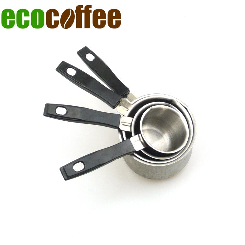 1 Set Turkish coffee pot stainless steel coffee pot with a handle teat cup four sets