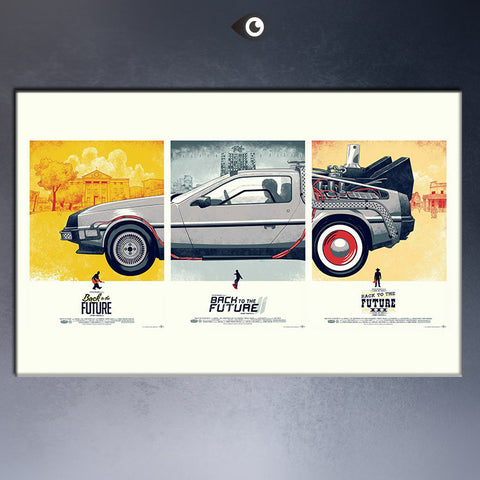 Free Shipping Back To The Future 1 2 3 Car Movie Classic Wall  Pictures Poster pint on canvas