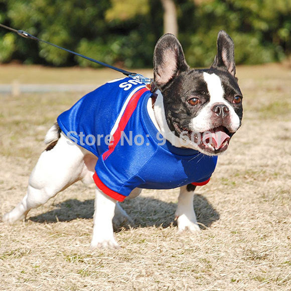 Dog Clothes Summer Large Dog T Shirts Football Dog Jerseys
