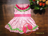 New 2016 Summer Dog Clothes Dog Dress Cute Watermelon Princess